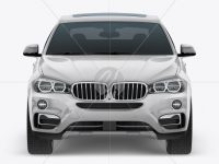 SUV Crossover Car Mockup - Front View