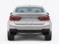 SUV Crossover Car Mockup - Back View