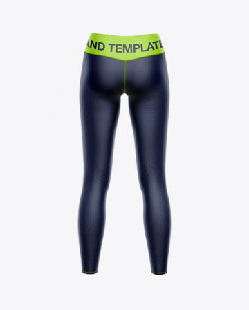 Women's Leggings Mockup - Back view