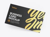 Textured Business Card Mockup