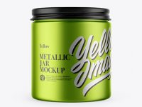 Matte Metallic Storage Jar Mockup