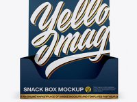 Textured Snack Box Mockup