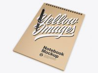 Kraft Notebook w/ Pen Mockup