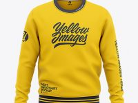 Men's Crew Neck Sweatshirt - Front View