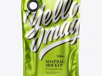 Matte Metallic Soap Bag Mockup