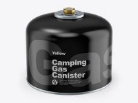 Glossy Gas Canister Mockup