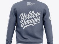 Men's Heather Crew Neck Sweatshirt - Back View
