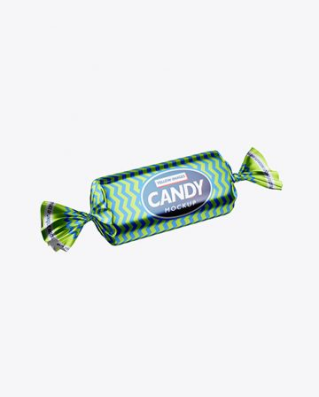 Metallic Candy Package Mockup
