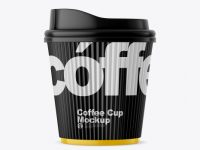 Matte Coffee Cup w/ Sleeve Mockup
