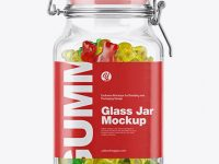 Gummy Bears Glass Jar Mockup