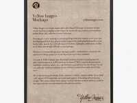Clipboard With Kraft Paper Mockup