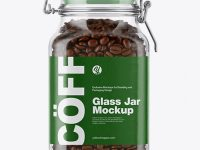 Coffee Beans Glass Jar Mockup