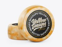 Two Marble Cheese Wheels Mockup