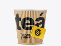Kraft Tea Cup w/ Sleeve Mockup