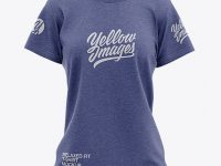 Women's Heather Relaxed Fit T-shirt Mockup - Front View