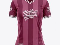 Women's Soccer V-Neck Jersey Mockup - Front View