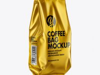 Matte Metallic Coffee Bag Mockup