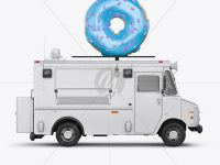 Foodtruck with Donut Mockup - Side View