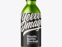 Matte Metallic Plastic Bottle Mockup