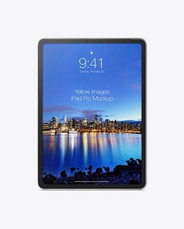 iPad Pro Vertical Mockup - Front View