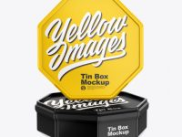 Two Matte Tin Boxes Mockup