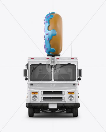 Foodtruck with Donut Mockup - Front View
