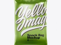 Metallic Snack Bag Mockup