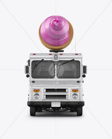 Ice Cream Food Truck Mockup - Front View