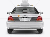 New York Taxi Mockup - Back View