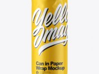 Can in Paper Wrap Mockup