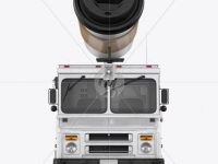 Foodtruck with Coffee Cup Mockup - Front View