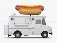Hot Dog Truck Mockup - Side view