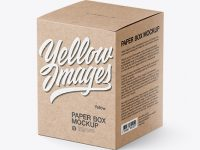 Kraft Paper Box Mockup - Half Side View