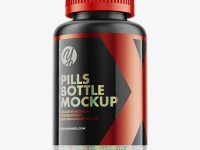Matte Plastic Pills Bottle Mockup - Hero Shot