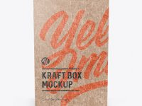 Kraft Paper Box Mockup - Front View (High-Angle Shot)