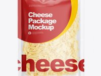 Bag With Shredded Cheese Mockup