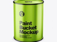 Metallic Paint Bucket Mockup