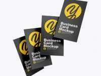 Matte Business Cards Mockup