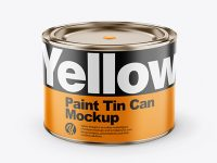 Paint Glossy Tin Can Mockup
