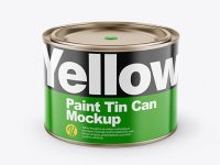 Paint Matte Tin Can Mockup