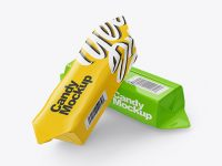 Two Glossy Candies Mockup