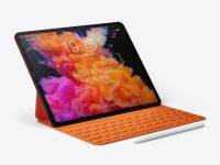 Ipad Pro with Pencil & Keyboard Mockup