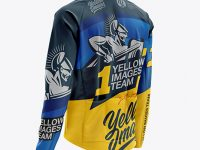 Men's Cycling Wind Jacket mockup (Back Half Side View)
