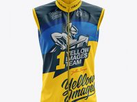 Men's Cycling Wind Vest mockup (Front View)