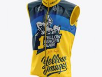 Men's Cycling Wind Vest mockup (Half Side View)