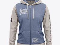 Women's Heather Full-Zip Hoodie - Front View