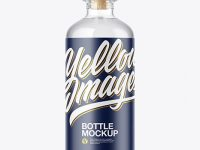 Clear Bottle Mockup
