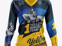 Women's MTB Trail Jersey LS mockup (Front View)