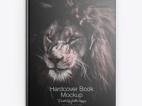 Hardcover Book w/ Textured Cover Mockup