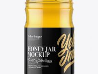 Clear Glass Honey Jar Mockup